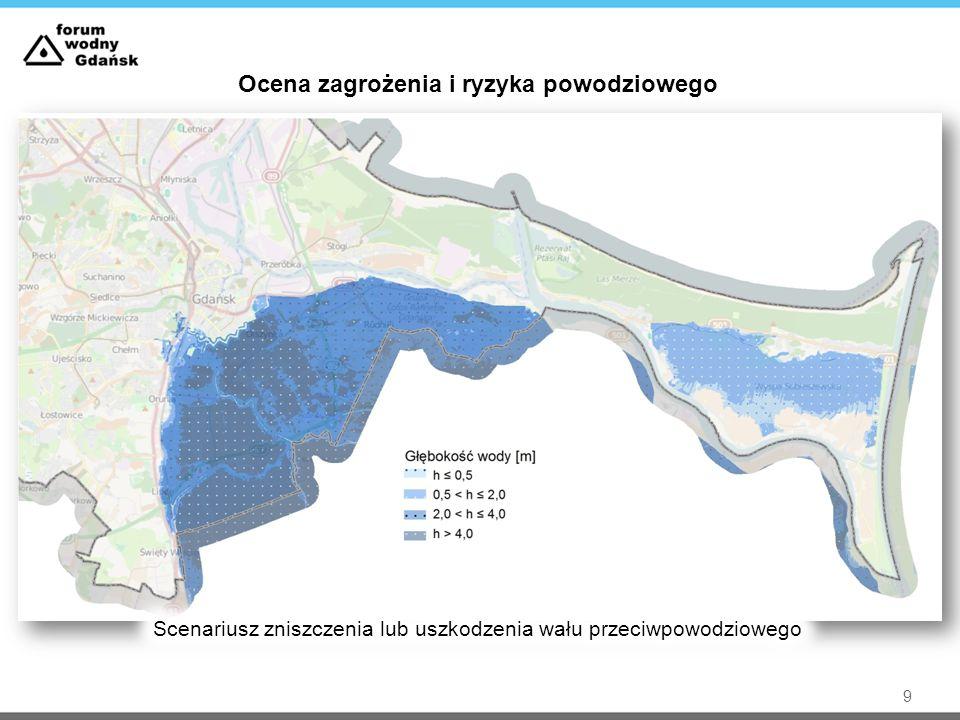 Diagnoza problemów (zagrożenie dla miasta Gdańsk)  Zagrożenie od Kanału Raduni  Gęsta zabudowa; brak naturalnych terenów zalewowych  Powodzie sztormowe od wód cofkowych  Potencjalny wzrost ryzyka powodziowego na obszarach zagrożonych związany z zagospodarowaniem terenów poprzez intensyfikację zabudowy mieszkaniowej, usługowej oraz obiektów infrastrukturalnych  Konieczność utrzymywania w dobrym stanie technicznym infrastruktury przeciwpowodziowej oraz modernizacji wynikających ze starzenia się konstrukcji  Szkodliwa działalność zwierząt  Wzrost poziomu morza w wyniku zmian klimatu  Ryzyko potencjalne, występujące na obwałowanych odcinkach rzek 10