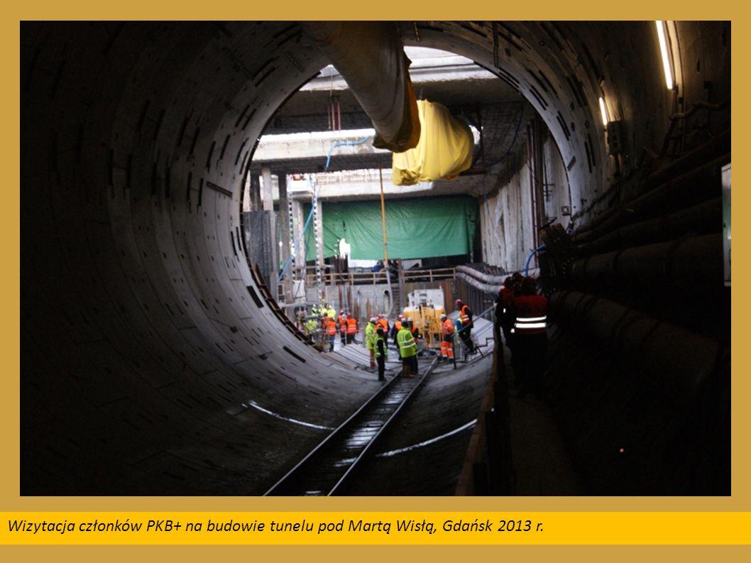 Wizytacja członków PKB+ na budowie tunelu pod Martą Wisłą, Gdańsk 2013 r.