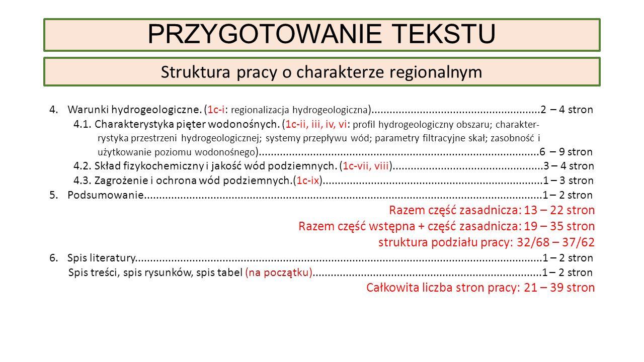 4.Warunki hydrogeologiczne.