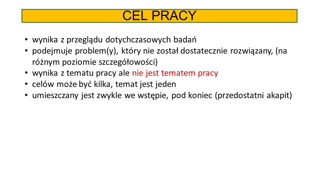 """CEL PRACY """"Od czasu uruchomienia składowiska obserwuje się podwyższenie stężeń niektórych składników (…)."""