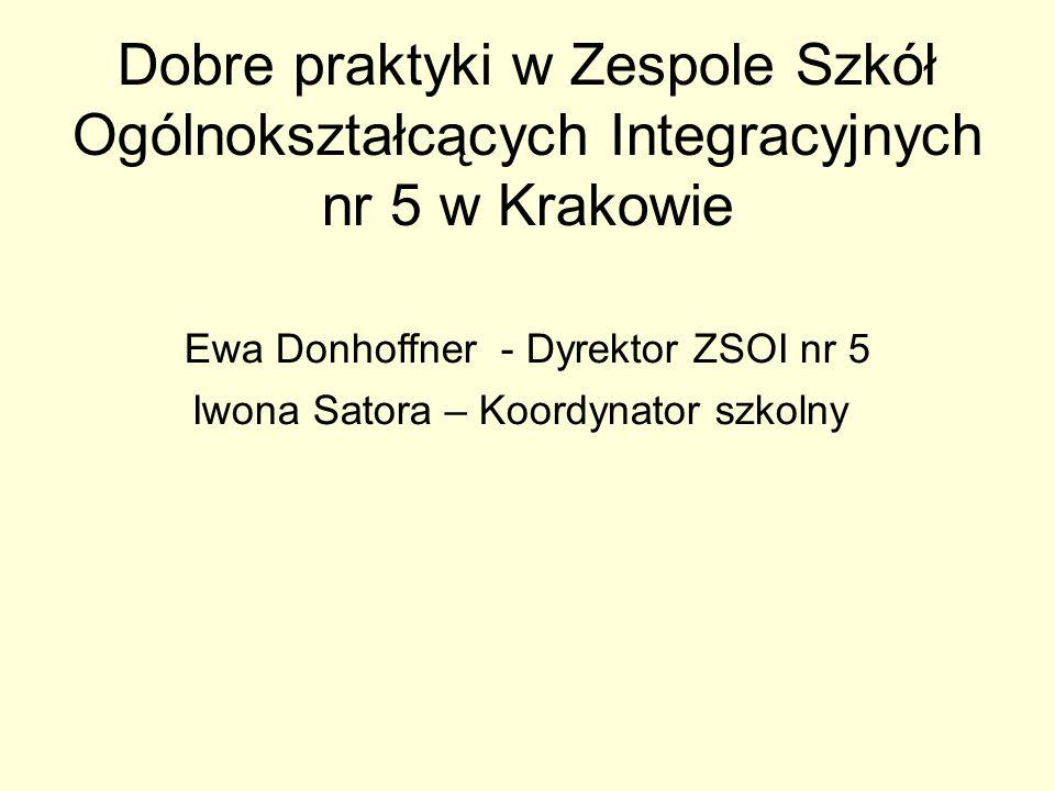 Coroczne działania społeczno - edukacyjne Sejmik ekologiczny Tydzień dla serca Lajkonik Dance with me Słoneczna integracja Mobilny Kraków (szkoła przyjazna rowerom)