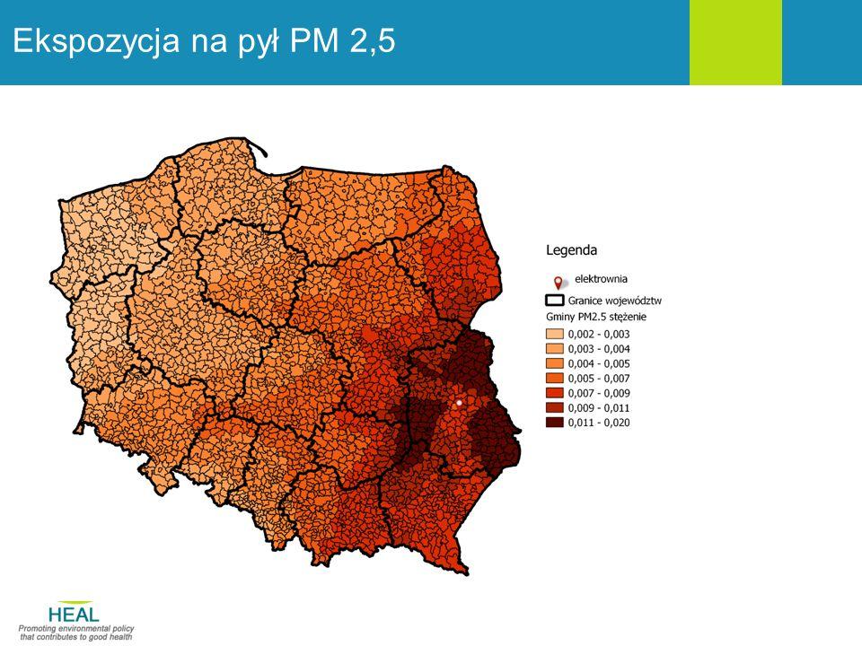 Ekspozycja na pył PM 2,5