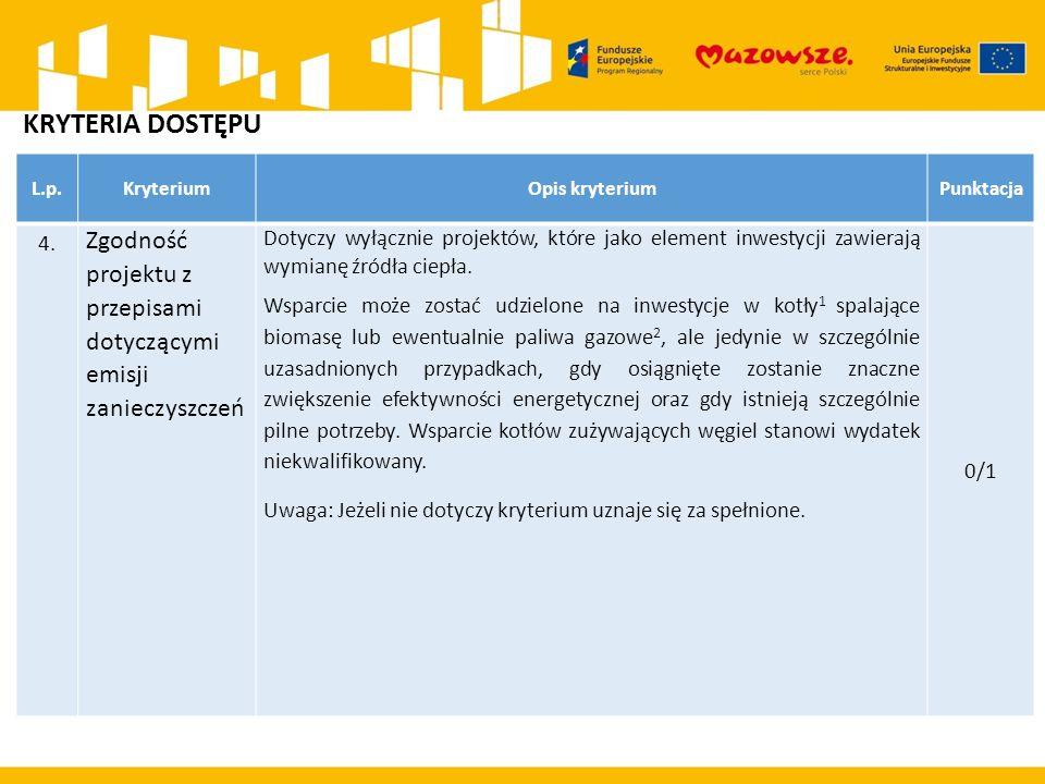 L.p.KryteriumOpis kryteriumPunktacja 4.