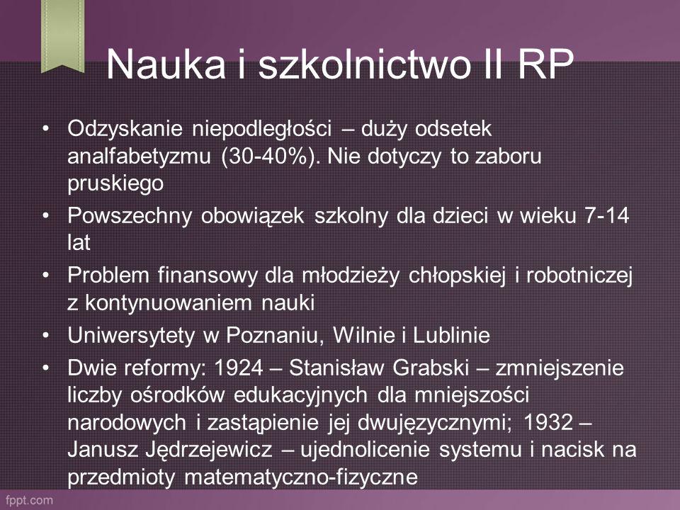 Filozofia Na świecie doceniano polskich filozofów: Tadeusza Kotarbińskiego, Romana Ingardena, Władysława Tatarkiewicza czy socjologa Floriana Znanieckiego.