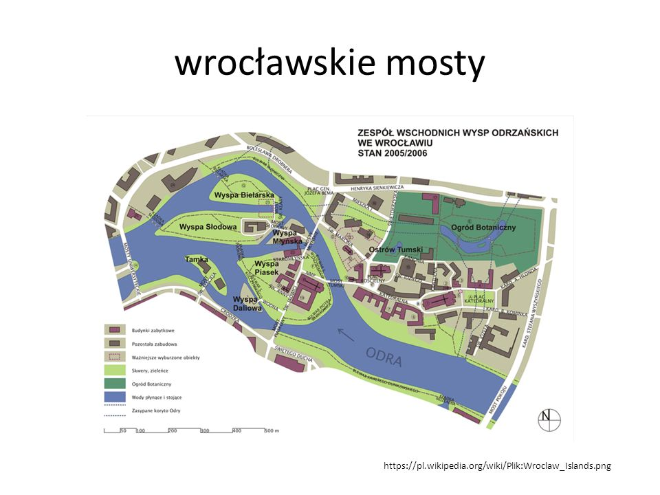 wrocławskie mosty https://pl.wikipedia.org/wiki/Plik:Wroclaw_Islands.png
