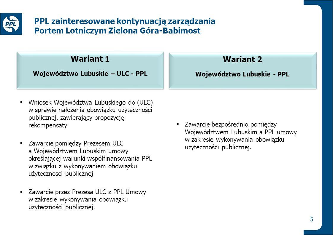 PPL zainteresowane kontynuacją zarządzania Portem Lotniczym Zielona Góra-Babimost  Wniosek Województwa Lubuskiego do (ULC) w sprawie nałożenia obowią