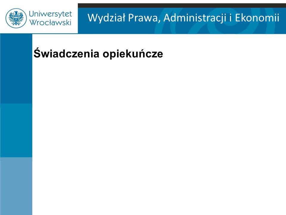 Wydział Prawa, Administracji i Ekonomii Świadczenia opiekuńcze