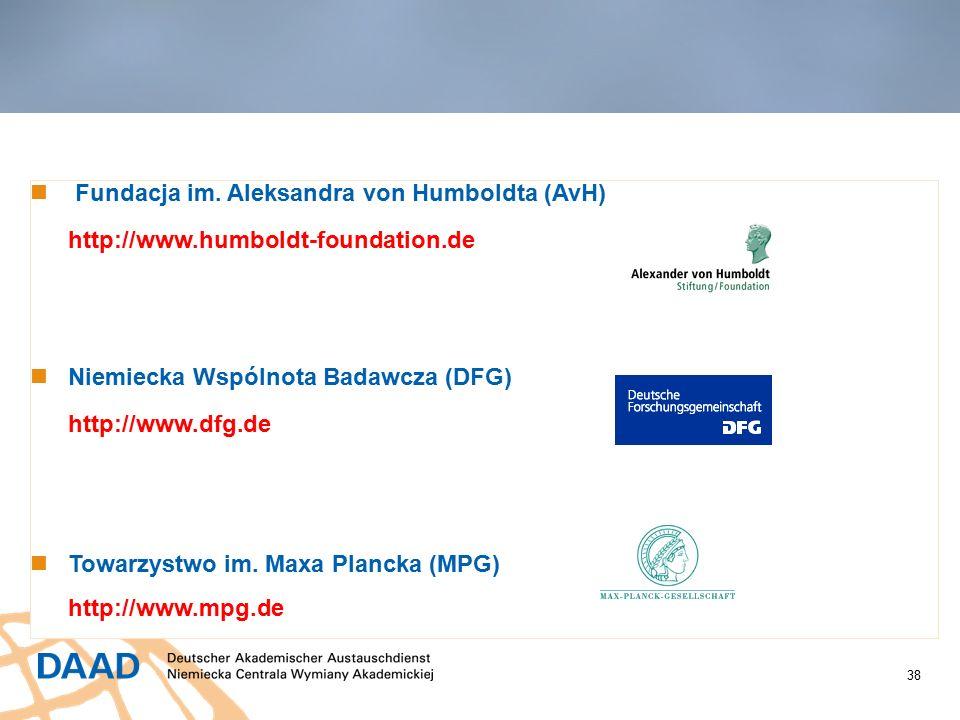 38 Stypendia innych organizacji Fundacja im.