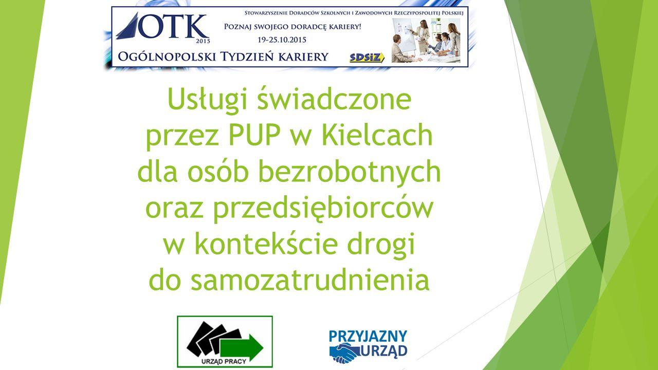 Usługi świadczone przez PUP w Kielcach dla osób bezrobotnych oraz przedsiębiorców w kontekście drogi do samozatrudnienia