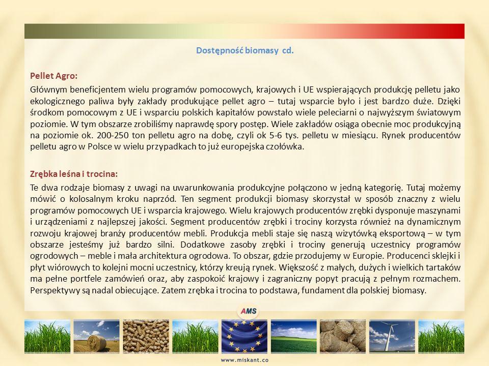 Dostępność biomasy cd.