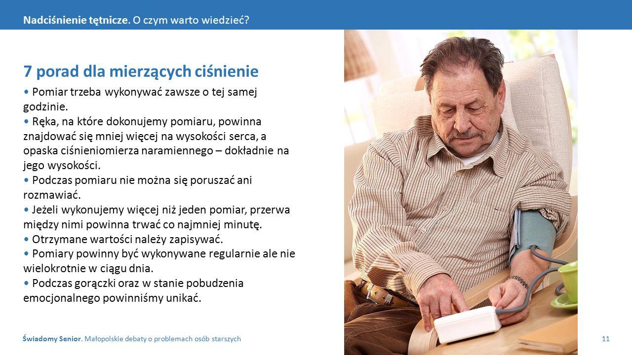 Świadomy Senior. Małopolskie debaty o problemach osób starszych11 Nadciśnienie tętnicze.