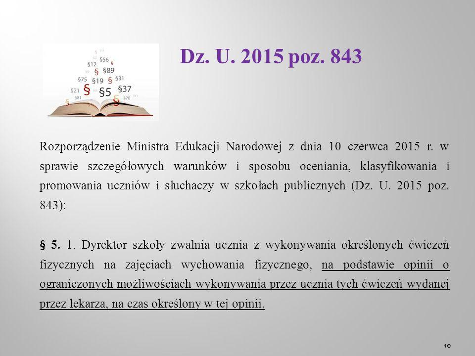Dz. U. 2015 poz. 843 Rozporządzenie Ministra Edukacji Narodowej z dnia 10 czerwca 2015 r.