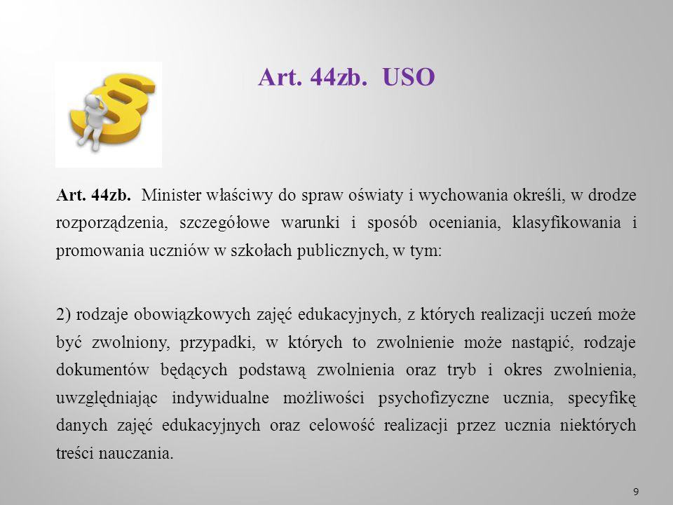 Art. 44zb. USO Art. 44zb.