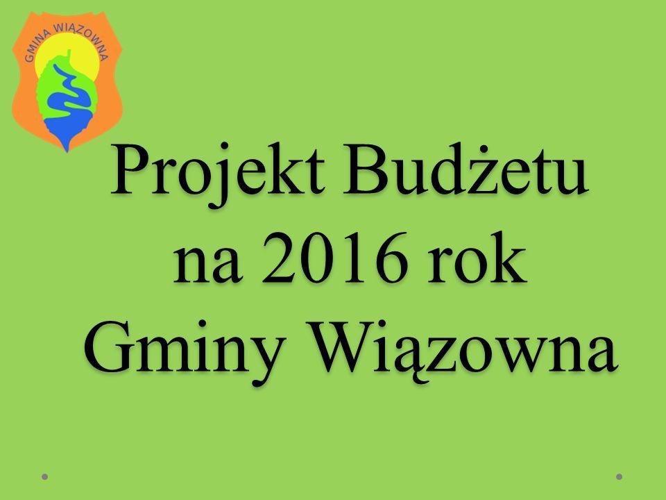 Projekt Budżetu na 2016 rok Gminy Wiązowna