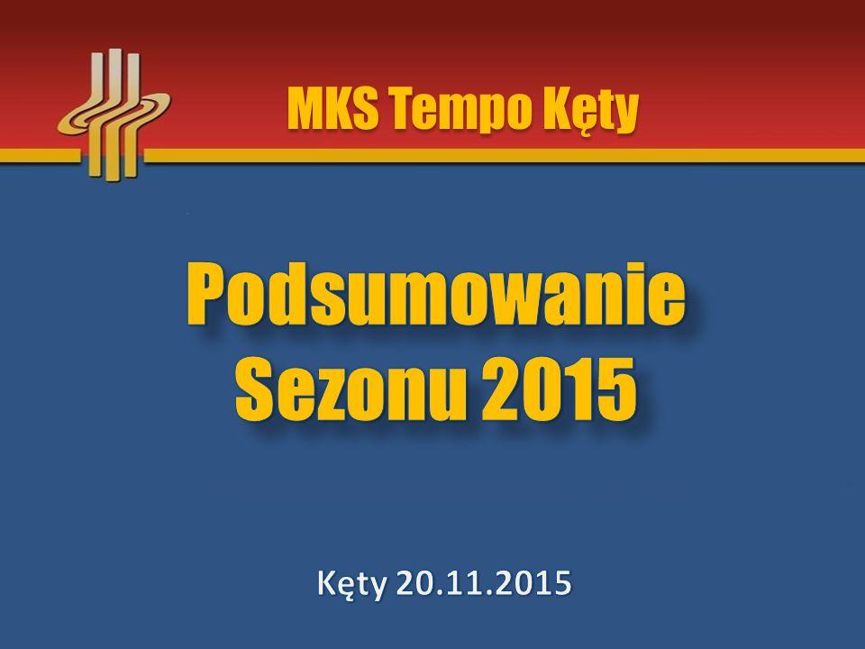 Sezon 2015 w liczbach 40 zawodników objętych szkoleniem 28 zawodników wystartowało w barwach klubu 23 starty w różnych imprezach sportowych 5 startów w Mistrzostwach Polski 12 medali Mistrzostw Województwa Małopolskiego 9 klas sportowych PZLA