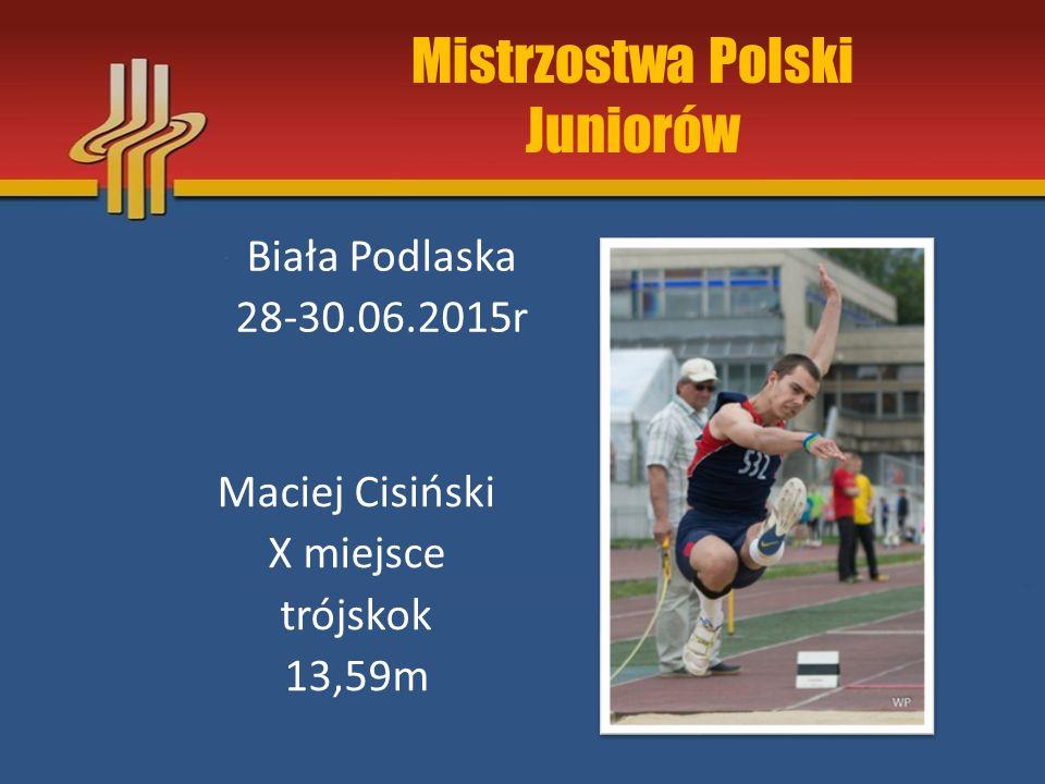 Mistrzostwa Polski Juniorów Młodszych Klaudia Blacha eliminacje pchnięcie kulą 11,04m Łódź, 5-7.08.2015