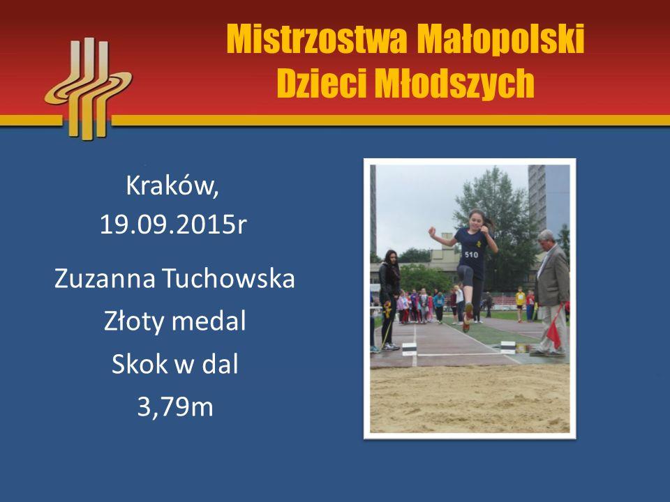 Halowe Mistrzostwa Małopolski Juniorów Kraków, 18.01.2015r Maciej Cisiński złoty medal trójskok 13.05m