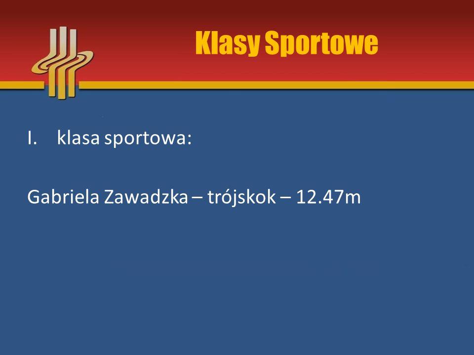 Klasy Sportowe I.klasa sportowa: Gabriela Zawadzka – trójskok – 12.47m