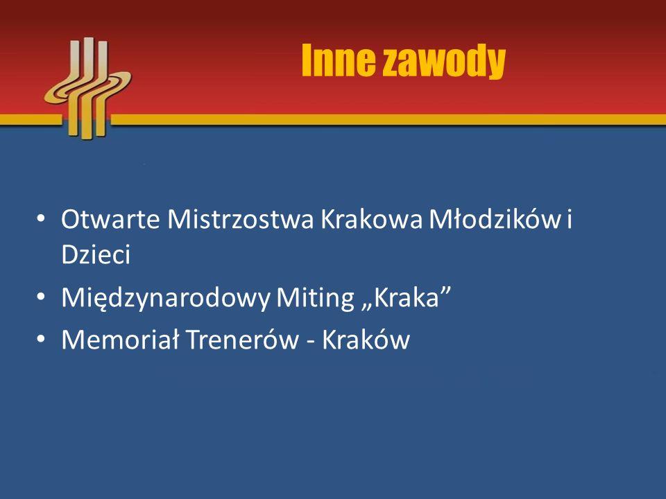 """Inne zawody Otwarte Mistrzostwa Krakowa Młodzików i Dzieci Międzynarodowy Miting """"Kraka"""" Memoriał Trenerów - Kraków"""