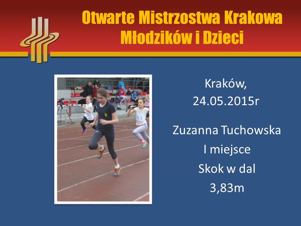 Otwarte Mistrzostwa Krakowa Młodzików i Dzieci Kraków, 24.05.2015r Karolina Waluś II miejsce 60m 9,26s