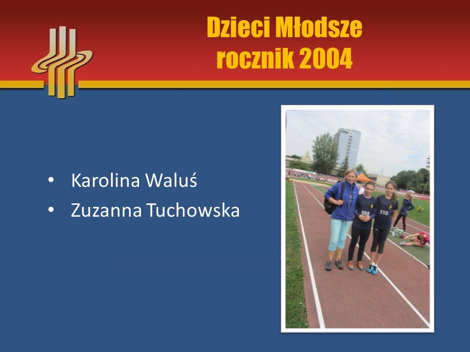 Dzieci Młodsze rocznik 2004 Karolina Waluś Zuzanna Tuchowska