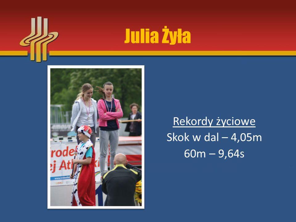 Gabriela Wójcik Rekordy życiowe Skok w dal (strefa) – 4,33m 100m – 15,28s 60m R – 8,7s