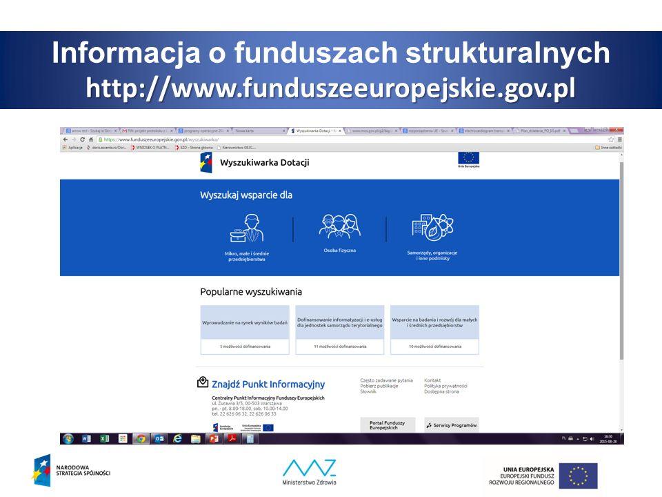 Informacja o funduszach strukturalnychhttp://www.funduszeeuropejskie.gov.pl