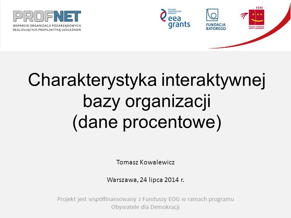 Projekt jest współfinansowany z Funduszy EOG w ramach programu Obywatele dla Demokracji Tomasz Kowalewicz Warszawa, 24 lipca 2014 r.