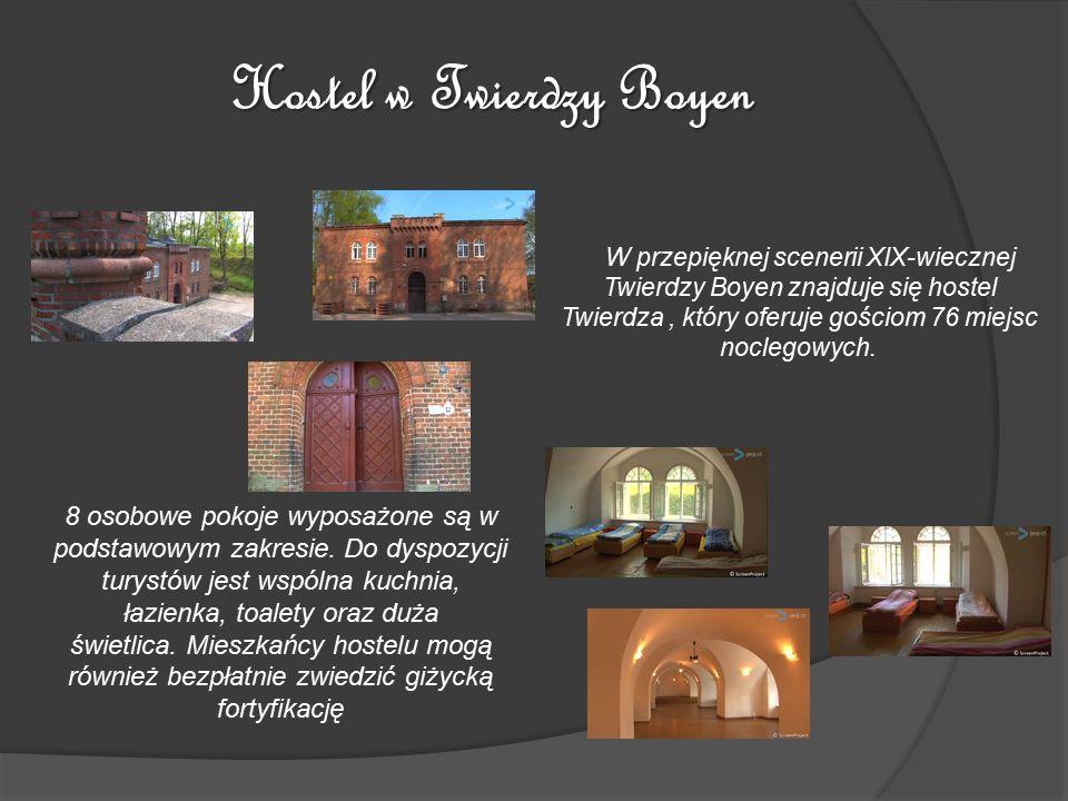 Hostel w Twierdzy Boyen W przepięknej scenerii XIX-wiecznej Twierdzy Boyen znajduje się hostel Twierdza, który oferuje gościom 76 miejsc noclegowych.
