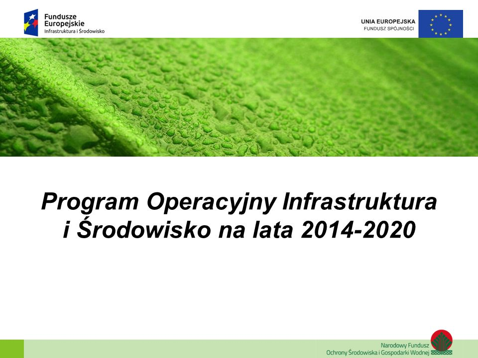 Poddziałanie 1.3.2 Wspieranie efektywności energetycznej w sektorze mieszkaniowym Alokacja Forma finansowania Typ projektów 225,5 mln euro Instrument Finansowy głęboka, kompleksowa modernizacja energetyczna wielorodzinnych budynków mieszkaniowych