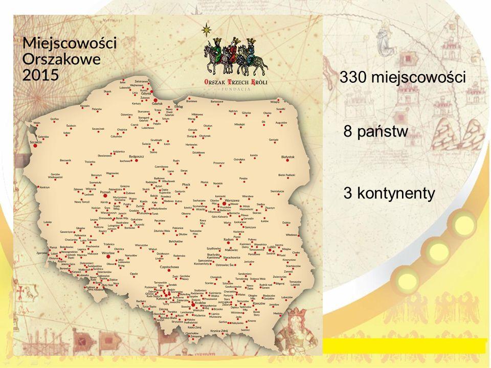330 miejscowości 8 państw 3 kontynenty