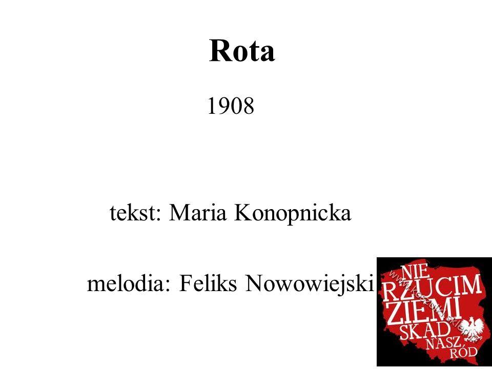Mazurek Dąbrowskiego 1797 Tekst: Józef Rufin Wybicki Muzyka: autor nieznany