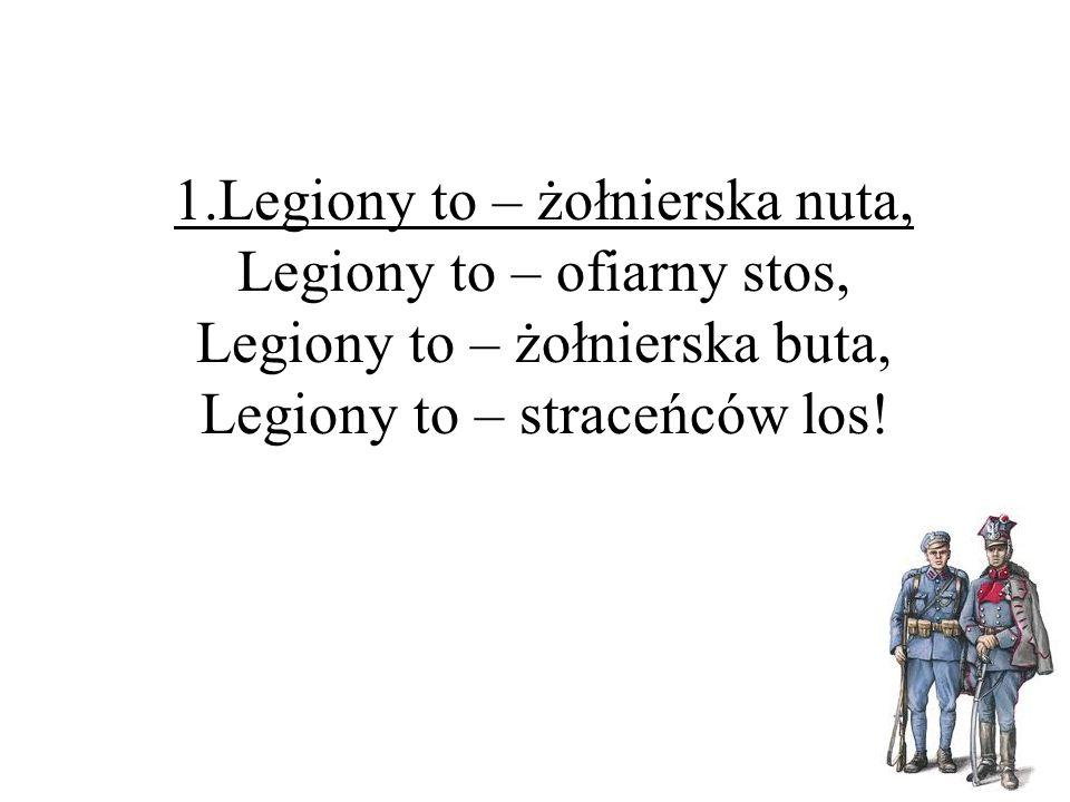 Rozkwitały pąki białych róż 1914/1918 tekst: Jan Lankau, Kazimierz Wroczyński melodia: Mieczysław Kozar-Słobodzki