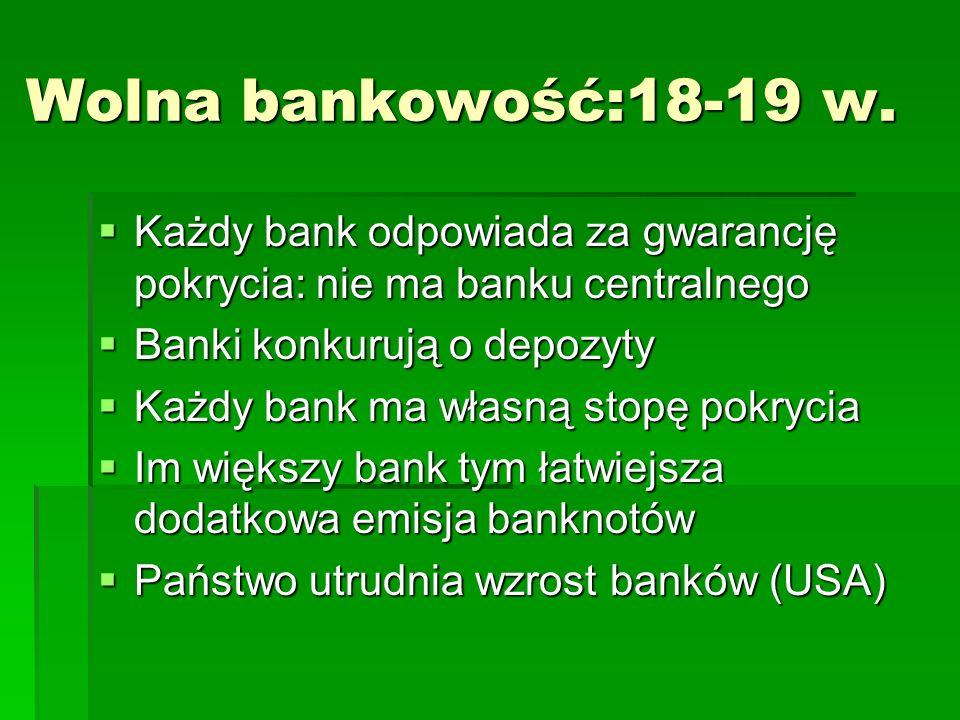 Wolna bankowość:18-19 w.
