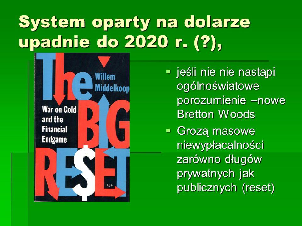 System oparty na dolarze upadnie do 2020 r.