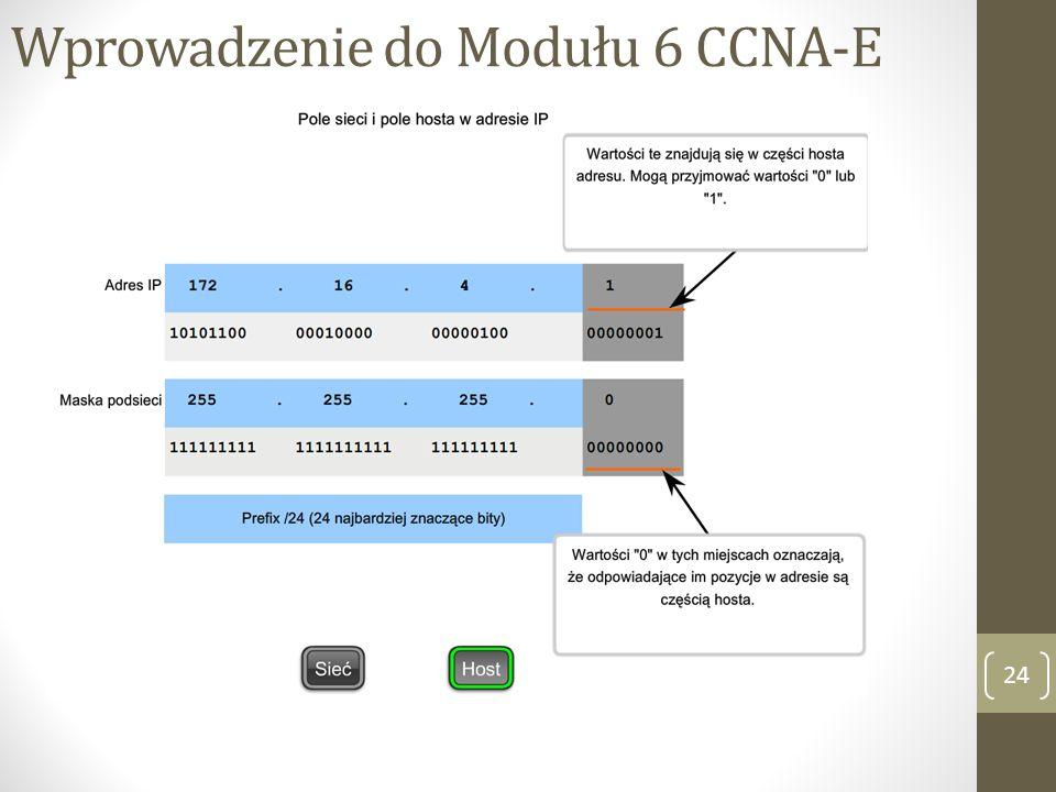 Wprowadzenie do Modułu 6 CCNA-E 24