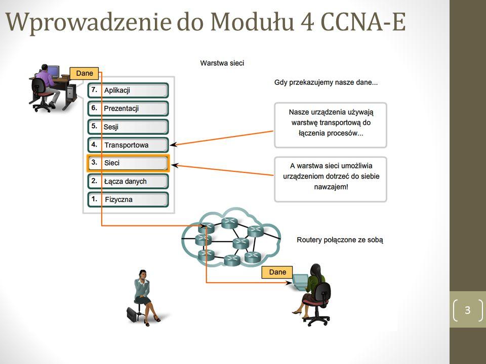 Cele warstwy sieciowej 4 Warstwa sieci (warstwa 3 modelu OSI) zapewnia usługi wymiany fragmentów danych poprzez sieć pomiędzy określonymi urządzeniami końcowymi.