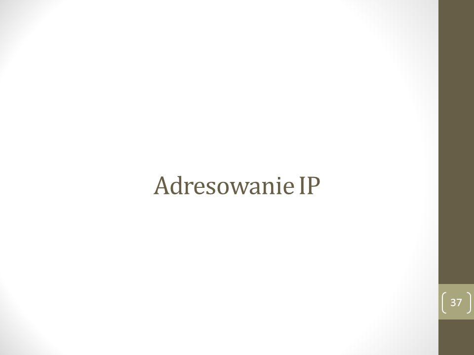 Adresowanie IP 37