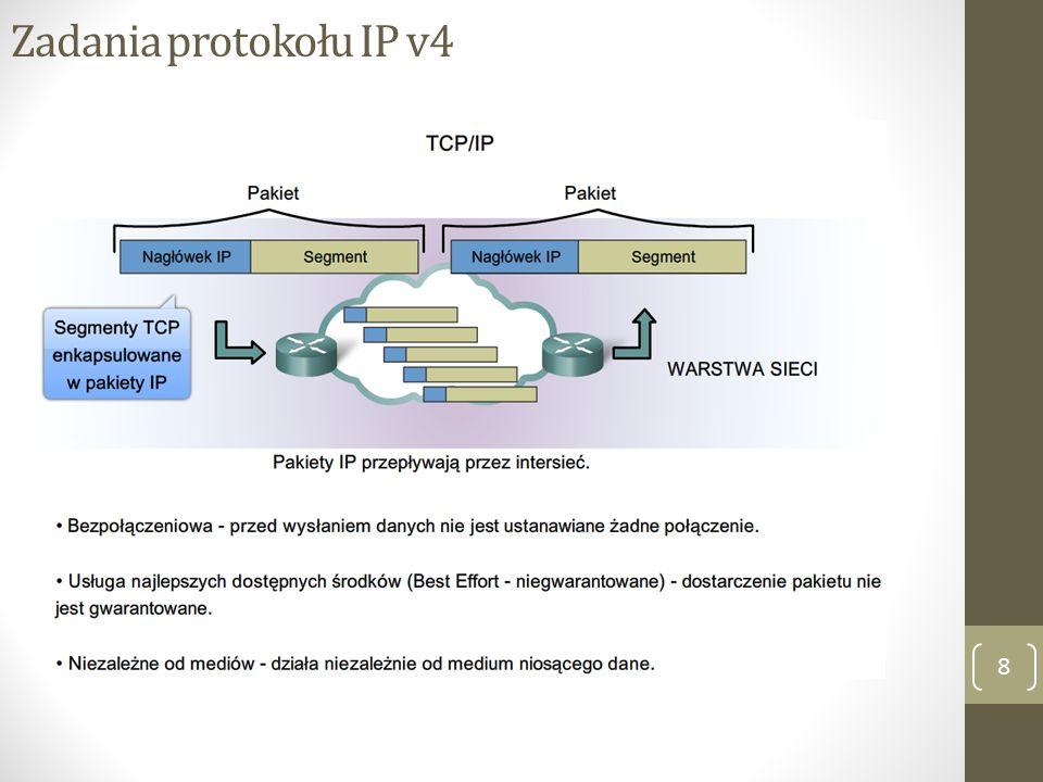 IP v4 – bezpołączeniowy 9