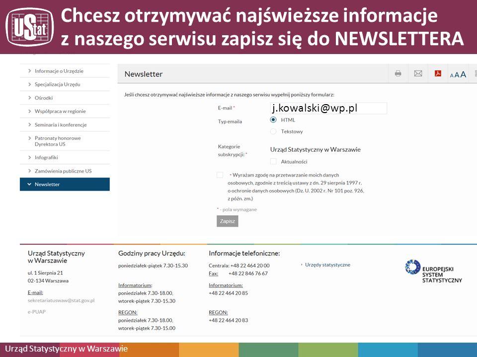 Urząd Statystyczny w Warszawie Zapraszamy na naszą stronę http://warszawa.stat.gov.pl