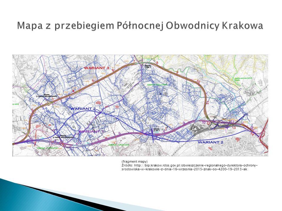 (fragment mapy) Źródło: http://bip.krakow.rdos.gov.pl/obwieszczenie-regionalnego-dyrektora-ochrony- srodowiska-w-krakowie-z-dnia-16-wrzesnia-2015-znak