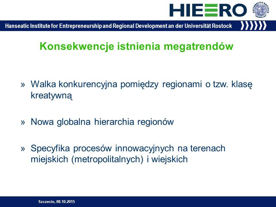 Hanseatic Institute for Entrepreneurship and Regional Development an der Universität Rostock Konsekwencje istnienia megatrendów »Walka konkurencyjna pomiędzy regionami o tzw.