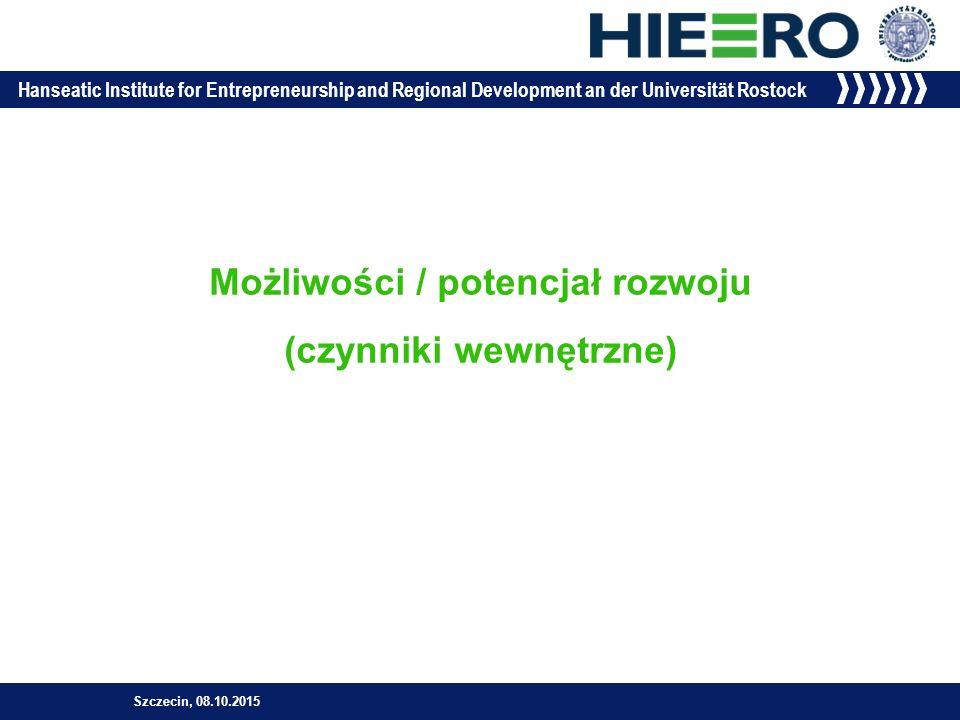 Hanseatic Institute for Entrepreneurship and Regional Development an der Universität Rostock »inteligentna specjalizacja  inteligentne zarządzanie (smart governance) Smart specjalisation (inteligentna specjalizacja) Szczecin, 08.10.2015