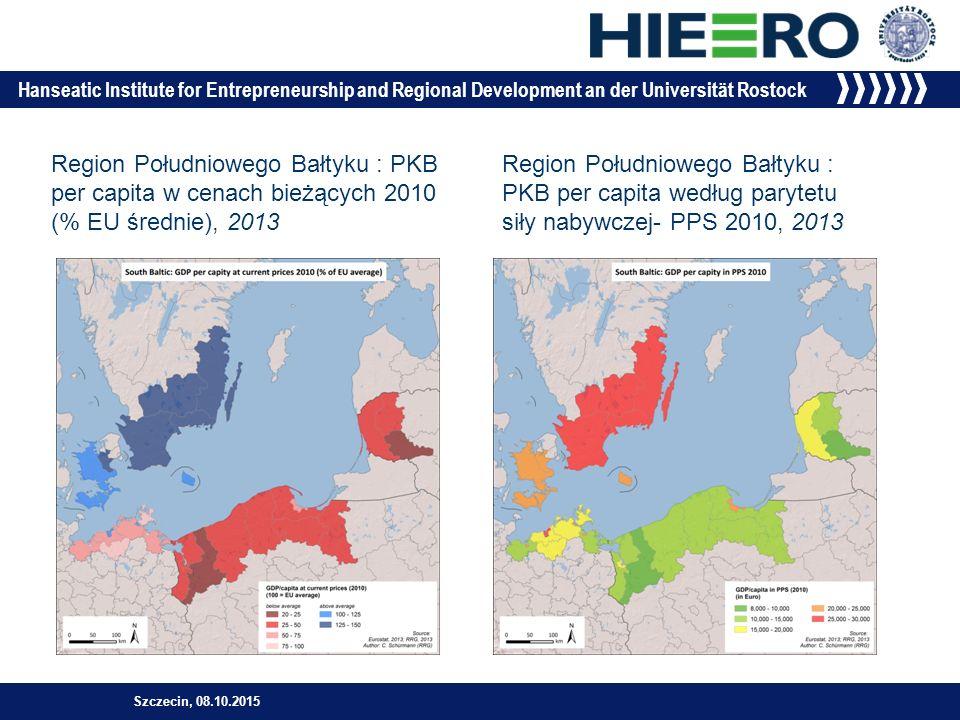 Hanseatic Institute for Entrepreneurship and Regional Development an der Universität Rostock Szczecin, 08.10.2015 »Potencjalna dostepność: PKB, 2007