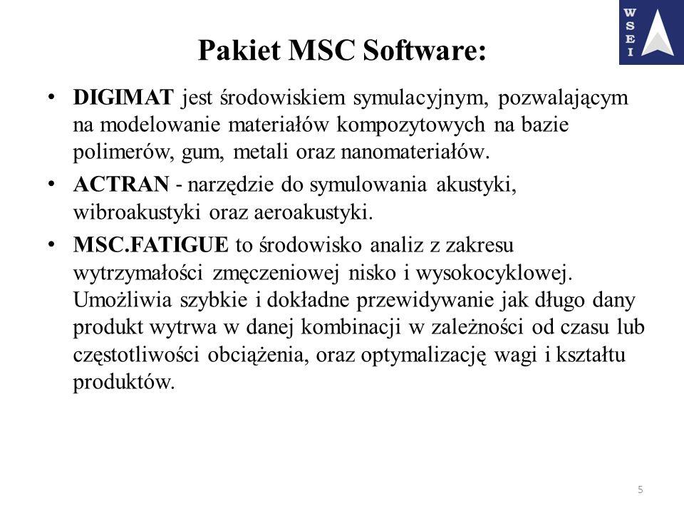 Pakiet MSC Software: DIGIMAT jest środowiskiem symulacyjnym, pozwalającym na modelowanie materiałów kompozytowych na bazie polimerów, gum, metali oraz