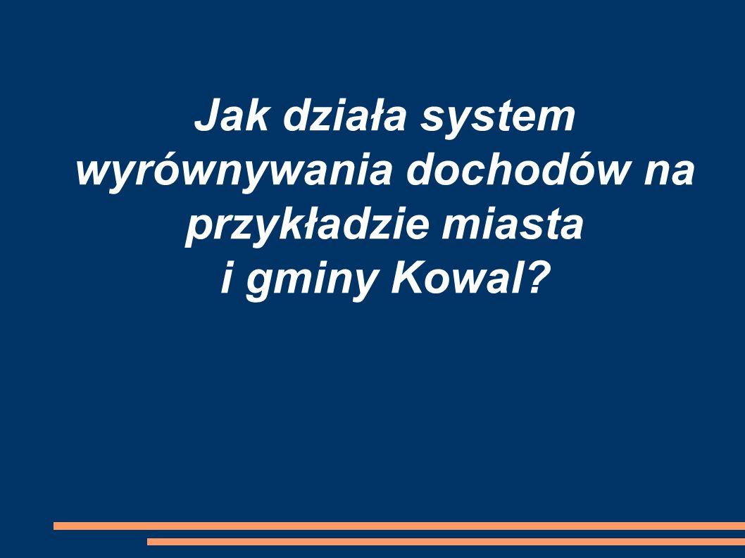Jak działa system wyrównywania dochodów na przykładzie miasta i gminy Kowal