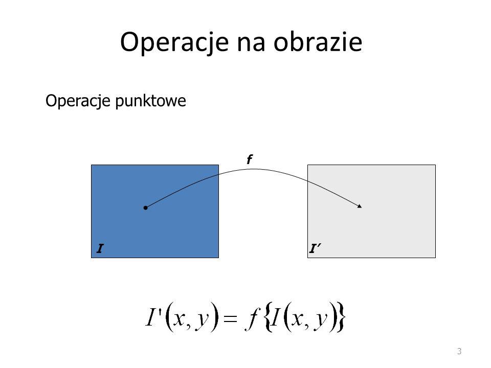 Operacje na obrazie 3 II' f Operacje punktowe