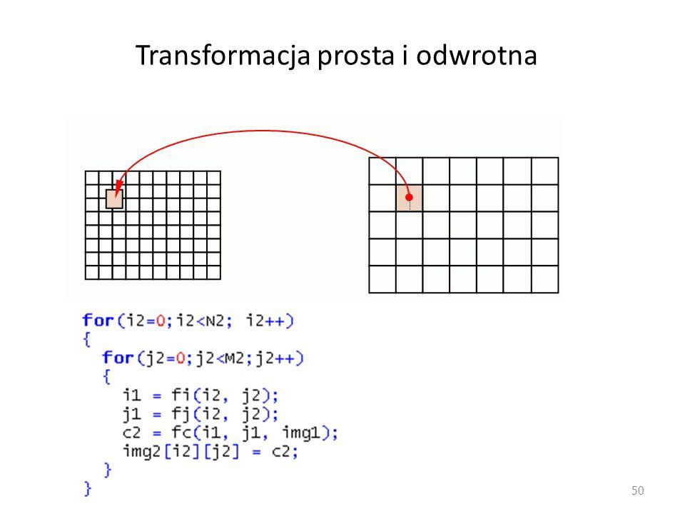 Transformacja prosta i odwrotna 50