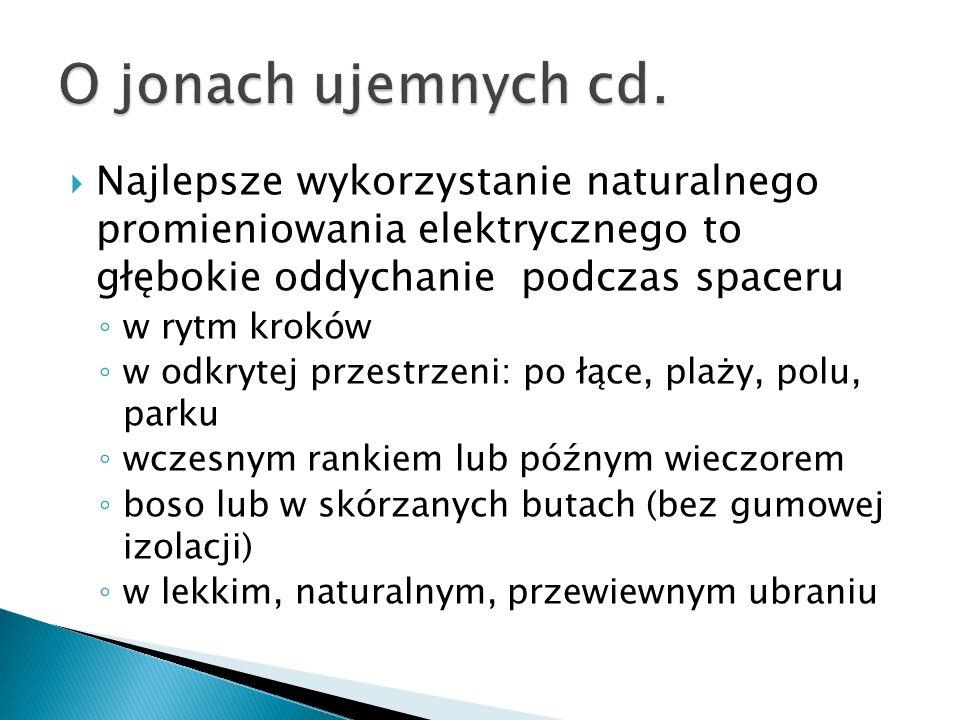  Oczyszczający (westchnienie: krótki wdech i długi wydech)  Energetyzujący (ziewnięcie: długi wdech i krótki wydech)  Oddech przeponowy – przy wdechu brzuch uwypuklony, przy wydechu wklęsły Ćwiczenia: świadoma praca przepony wdech i wydech podzielony na 3 równe części (brzuch, żebra, klatka piersiowa) przedłużanie fazy wdechu lub wydechu