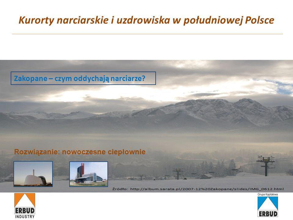 Kurorty narciarskie i uzdrowiska w południowej Polsce Zakopane – czym oddychają narciarze? Rozwiązanie: nowoczesne ciepłownie